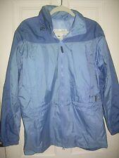 COLUMBIA Blues Nylon PACKABLE Hooded Jacket Raincoat L EUC FREE SHIP