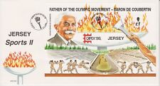 Unaddressed Jersey FDC First Day Cover 1996 Jersey Sports II Sheet 10% off 5