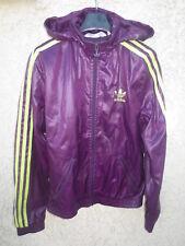 Veste ADIDAS capuche violet girl femme Trefoil jacket giacca tracktop 36