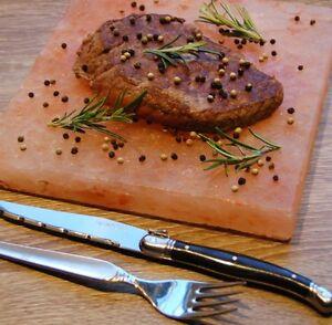 Gourmet Grill-Salzstein 3 Größen Salz Grillfliese Salzplatte heißer Stein BBQ
