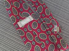 Mens Neck Tie Christopher Hayes Silk Italy Avant Garde Geometric Amoebas Red #9