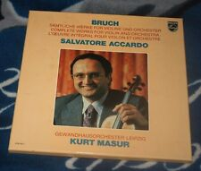 BRUCH / ACCARDO  WORKS FOR VIOLIN AND ORCHESTRA 4LP BOX PHILIPS 6768 065 MASUR