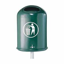 Abfallbehälter oval für Außen Ab...