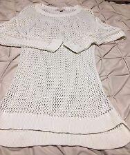 Authentic! MICHAEL Michael Kors Cream Crochet sweater-large, NWT
