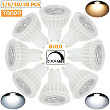1-20X GU10 LED Spot Light Bulb Dimmable 15W 220V Bright Daylight Warm White Lamp