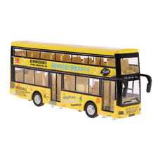1/50 in lega a due piani Sound & Light City Tour Bus Pull Back Car Kids Toy
