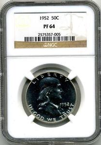 1952 (FRANKLIN HALF DOLLAR) 50¢ NGC PF64