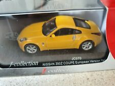 NISSAN 350Z COUPE EUROPEAN VERSION YELLOW J COLLECTION JC070 1/43