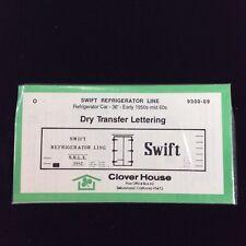 Clover House O Dry Transfer Decals 1950s-60s Swift Refrigerator Rail Car 9300-09