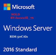 Microsoft Windows Server 2016 Standard RDS+ 50 User + 50 Device CALs(Cheap)