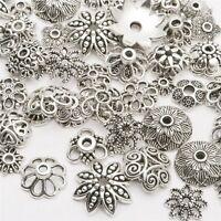 120-150PCS Tibetan Silver Flower Bead Caps Wholesale Jewelry Making DIY Charms
