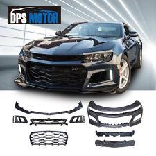 ZL1 Style PP Black Front Bumper Grill Body Kit For 16-18 Chevrolet Camaro