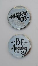 m 1x Be amazing INSPIRE ON POCKET TOKEN inspirational message to carry with you