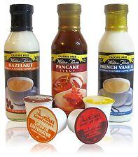 Walden Farms Hazelnut / French Vanilla Coffee Creamer & Pancake Syrup w/ 4 K-cup