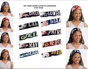 NFL Jersey Fanband HEADBAND Pick Your Team Ladies Team Apparel