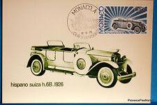Yt 1019 HISPANO SUIZA H.6B. 1926   MONACO  CARTE MAXIMUM 1° JOUR FCP