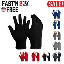 EvridWear Men Women Merino Wool Knit Liner Gloves Finger/Fingerless/Touchscreen