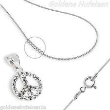 Kristall Peace KETTE mit ANHÄNGER 925er Sterling Silber 9205v