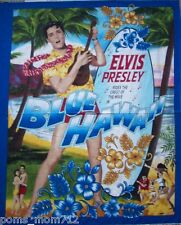 PERSONALIZE ELVIS PRESLEY BLUE HAWAII SURFER OCEAN LAP CRIB QUILT BLANKET 35x43