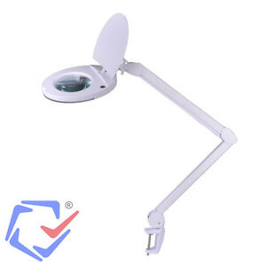 Desk Magnifier Magnifying Lamp Light Skincare Beauty Nail Manicure Tattoo Salon