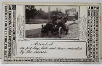 Arrival Announcement as Indicated by the crosses Victorians Car  Postcard A16