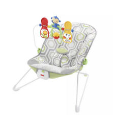 Fisher-Price Baby's Bouncer Geo Meadow Soothing Vibrating Chair New