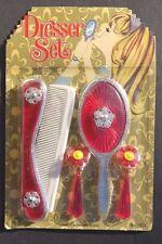 Vtg 1960's Day-Fran Kids Girls Dresser Beauty Toy Set (Mirror, Earrings) NOS