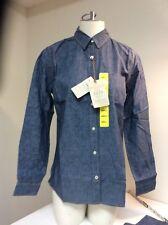 WEATHERPROOF * Ladies Western Vintage Long Sleeve Reverse Print Shirt Size Small
