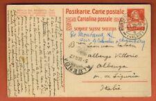 1922 - Suisse - Entier postal - De Montana (Valais) pour Italie
