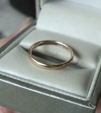 9ct Yellow Gold Wedding Band Ring h/m 1945 London  -  size J