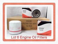 LOT OF 6 ENGINE OIL FILTER SO4484 15400-PL2-004 FIts: ACURA TL LEGEND NSX