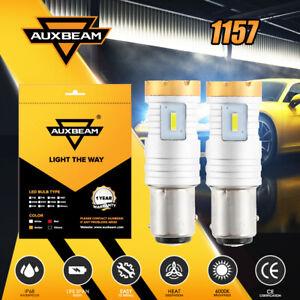 AUXBEAM 20W 1157 P21/5W LED Headlight Bulbs Kit 6500K 4-Sided Turn Signal Lights