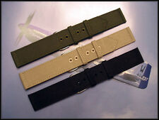 20mm Canvas WWII 2pc Military watchband Vintage MoD nato utc IW SUISSE 16 18 22