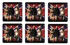 """THE DEVILS REJECTS COASTERS 1/4"""" BAR & BEER SET OF 6"""