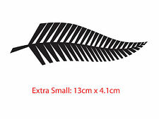 2 x Silver Fern Sticker Decal New Zealand KIWI Helmet Car Boat Tattoo
