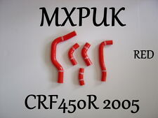 CRF450 2005 RED SILICONE HOSES MXPUK 05 CRF 450 SILICONE HOSE KIT CRF450R (421)