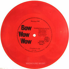 """Punk BOW WOW WOW 7"""" Elimination Dancing / King Kong New Ver. RED Vinyl FLEXI"""