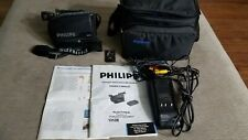 Philips PVR850-AV01 VHS-C Camcorder w/ Charger & Remote, Tested Works