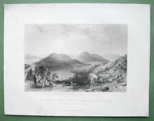 TURKEY Princes Islands Trinity Monastery - ALLOM 1840s Original Engraving Print