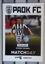 Programs PAOK Greece - Olympic Donetsk 2017