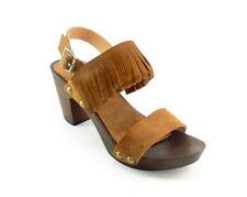 Oferta sandalias de mujer en piel con flecos tallas 36 37 38 39 40 41