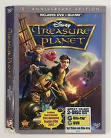 Treasure Planet *Slipcover ONLY* for DVD+BLURAY WALT DISNEY *DAMAGED*