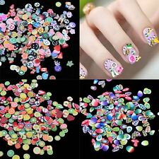 3000pcs Flower Fruit Nail Art Slices Polymer Clay Fimo Stickers 3D Decor