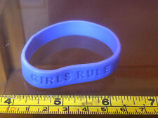 Girls Rule Girls Girl Rubber Wrist Band Fun Choose A Colour from 2nd Pic