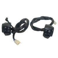 """1 Pair 1"""" Handlebar Control Switches Black+ Wiring Harness for Harley Motorbike"""