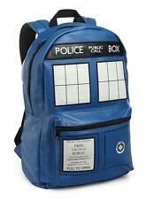 """DOCTOR WHO BBC Licensed 18"""" Deluxe Faux Leather TARDIS Police Box BACKPACK PU"""