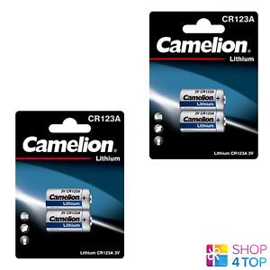 4 CAMELION CR123A LITHIUM BATTERY 3V CR17345 DL123A LIR123A 2BL EXP 2027 NEW