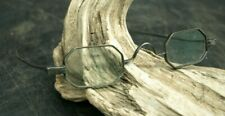 Antique Eyeglasses Antique Spectacles Coin Silver Glasses Cased 19thC (B2)