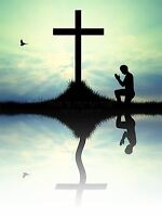 PRINT POSTER PAINTING DRAWING DESIGN FAITH CHRISTIANITY CROSS PRAYER LFMP0598