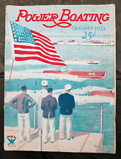 October 1933 Power Boating Magazine w/Dickey Cover